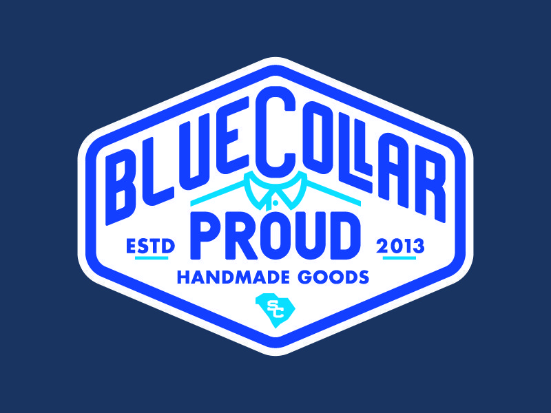 Blue Collar Proud Logo Design By Goodcuff