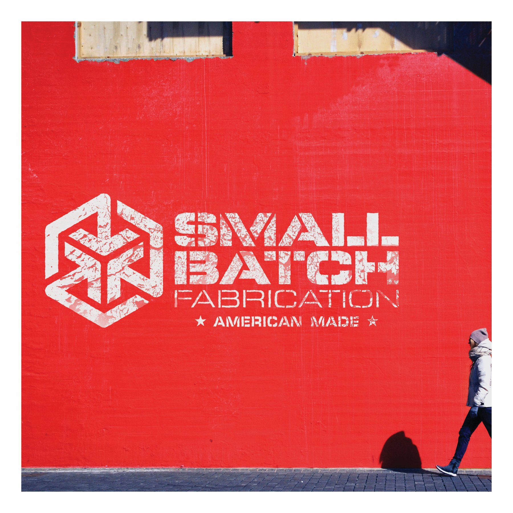 Small Batch Fabrication Wall Art Mockup