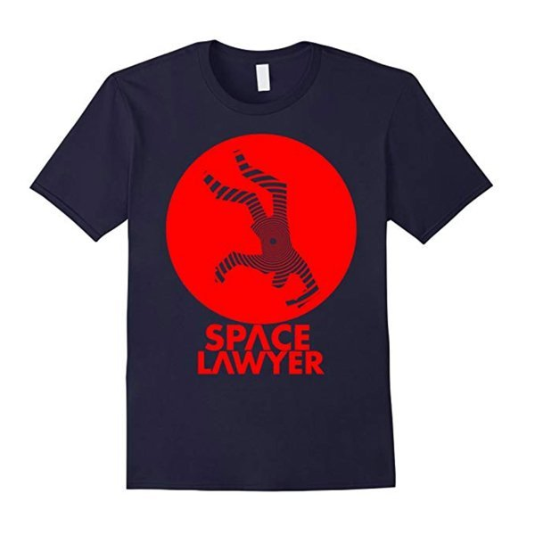 Kirk Battle's Space Lawyer Tshirt in Dark Navy
