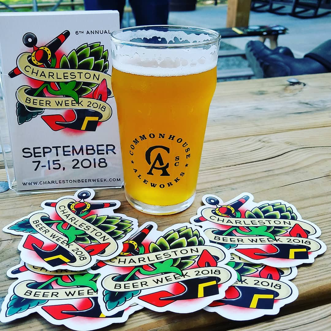 Commonhouse Ale Works with Charleston Beer Week Promotional Items