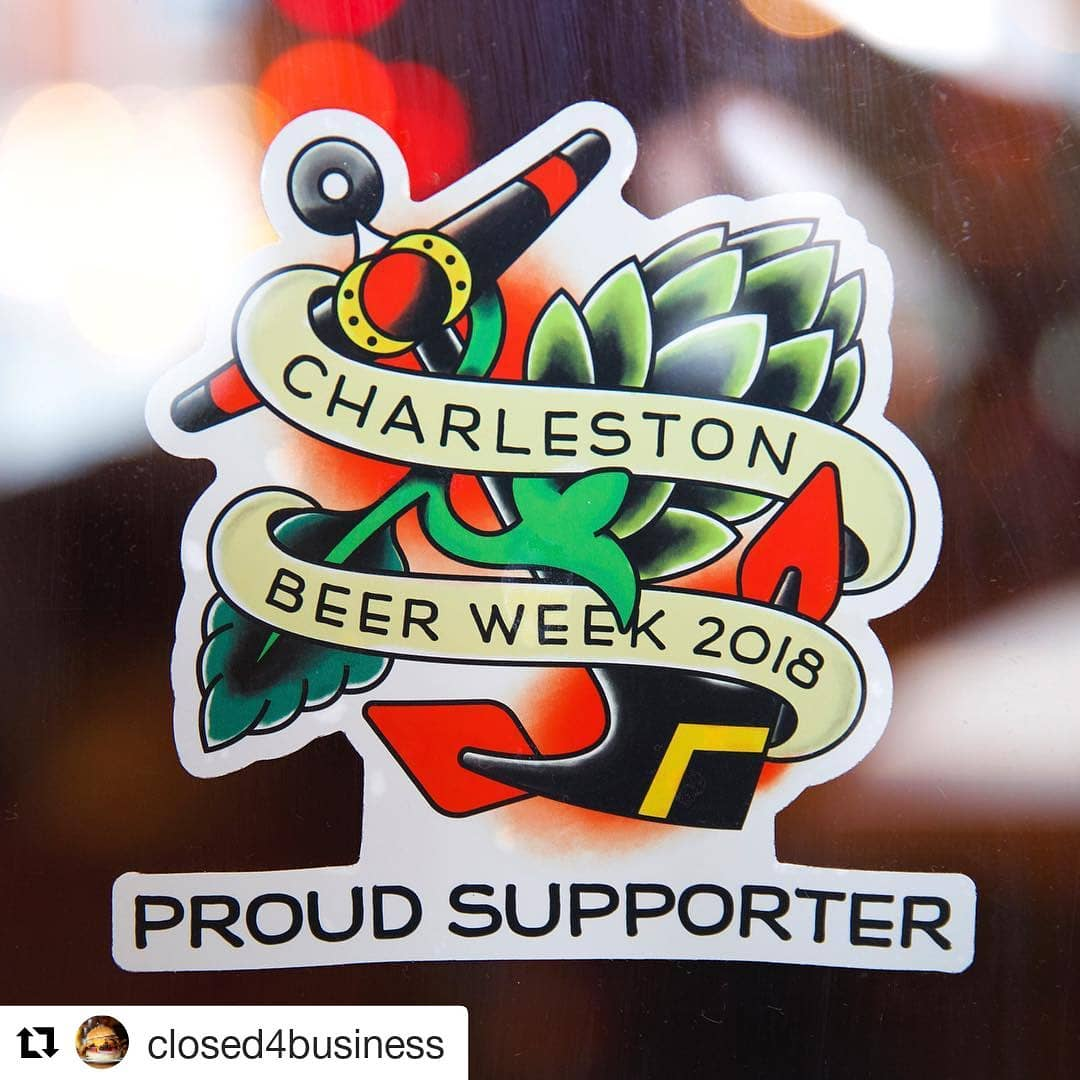 Supporter sticker for Charleston Beer Week by Closed4Business