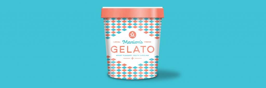 custom labeling for Marion's Gelato